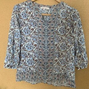 LOWBALLS ACCEPTED patterned floral blouse